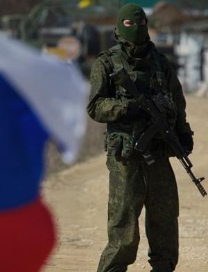 Pro-Russian soldier in Ukraine
