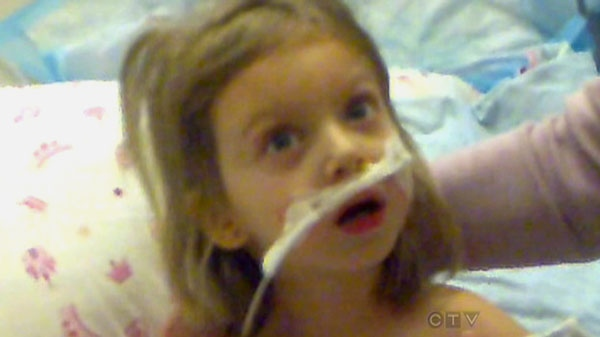 Jayden, who has been diagnosed with anti-NMDA receptor encephalitis, is seen in this image taken from home video.