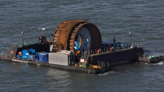 In-stream tidal turbine in the Bay of Fundy