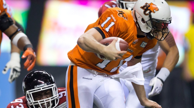 B.C. Lions' quarterback Buck Pierce (11)
