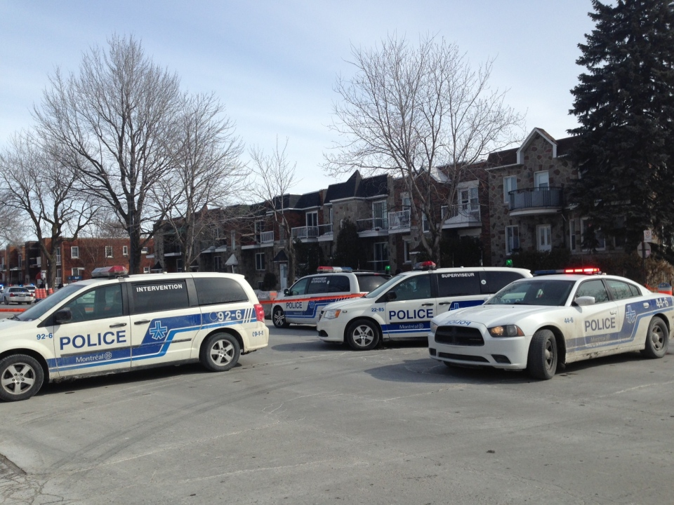 The incident began around 10:00 a.m. when a Pharmaprix on Sherbrooke St. near Hogan St. was robbed by two me