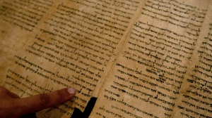 A portion of the Dead Sea Scrolls is shown here. The scrolls are now available online. (The Associated Press)
