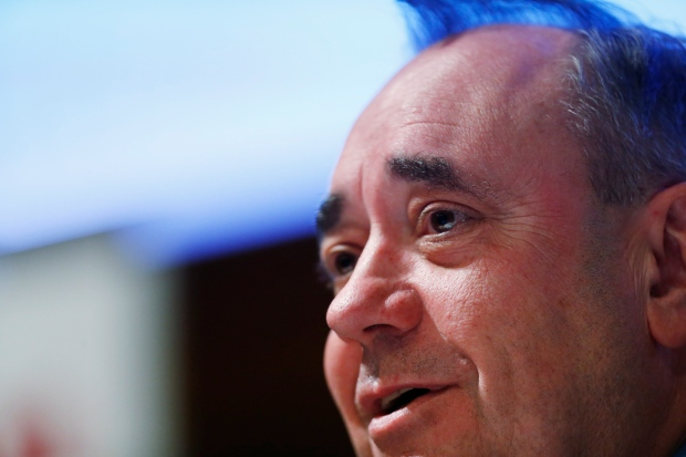 Scottish first Minister Alex Salmond answers a question after delivering a lecture on Scottish independence in central London, Tuesday, March 4, 2014. (AP / Lefteris Pitarakis)