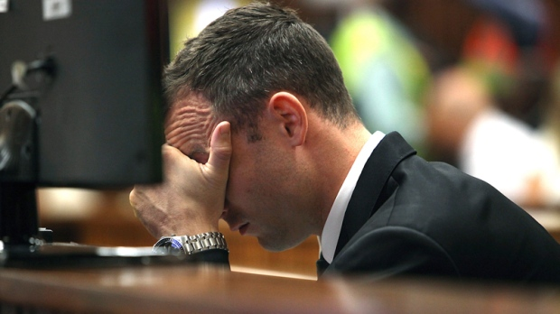 Oscar Pistorius in court in Pretoria, South Africa