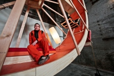 In Orbit human hamster wheel