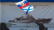 Ukrainian Navy staff HQ in Sevastopol, Ukraine