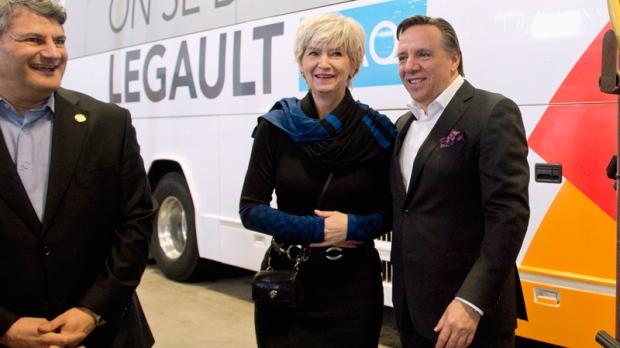 Coalition Avenir Quebec Francois Legault, right