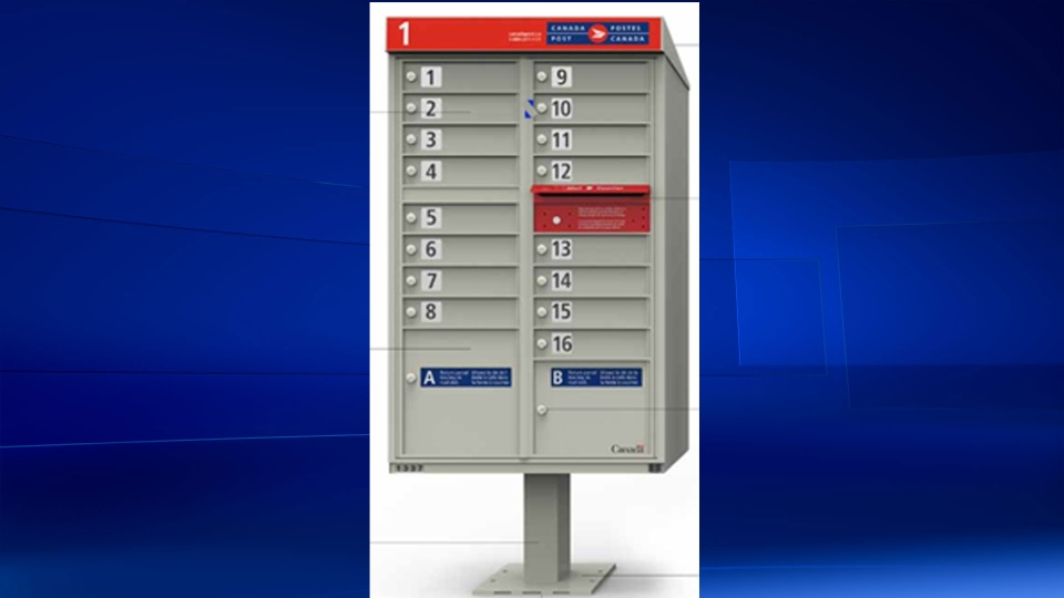 In this screengrab, a mock-up of the new Canada Post community mailboxes is pictured.