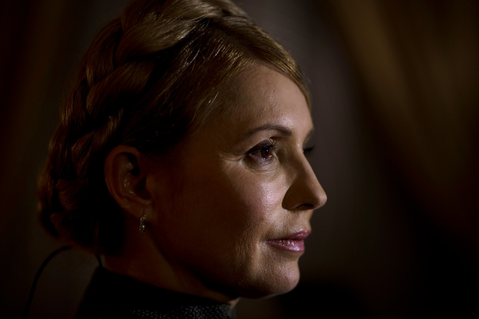 Former Ukrainian Prime Minister Yulia Tymoshenko poses for a photo during an interview with the Associated Press in Kyiv, Ukraine on March 5, 2014. (AP Photo / Emilio Morenatti)