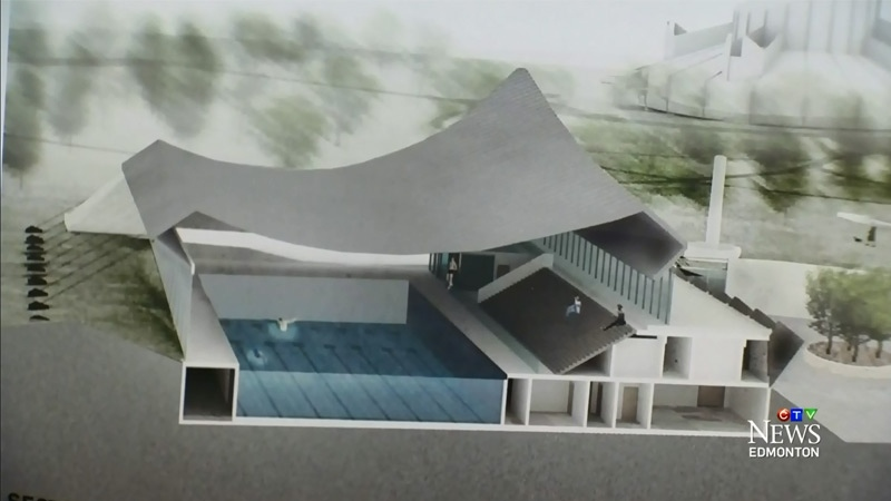 One of the images released by the City of Edmonton of a proposed recreation centre for Coronation Park.