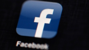The Facebook logo is displayed on an iPad in Philadelphia on May 16, 2012. (AP / Matt Rourke)