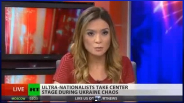 "Washington-based correspondent for 'Russia Today' Liz Wahl quit on air over the network ""whitewashing"" Russian President Vladimir Putin's actions."