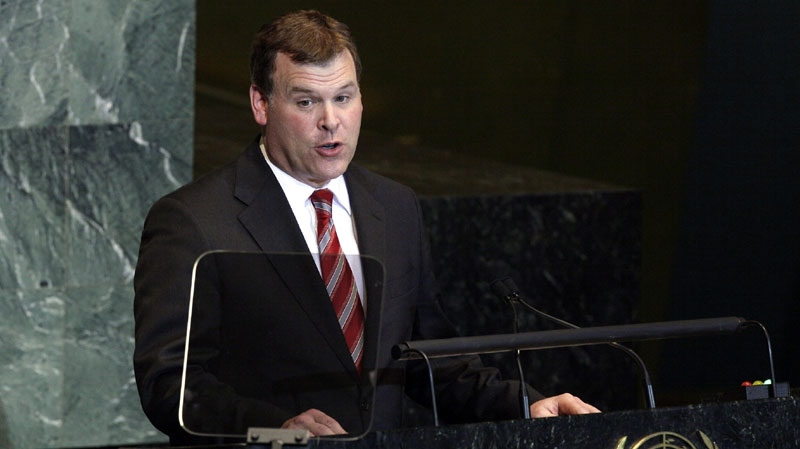 Foreign Affairs Minister John Baird addresses the UN General Assembly on Sept. 26, 2011