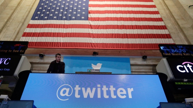 Twitter's IPO day on the New York Stock Exchange