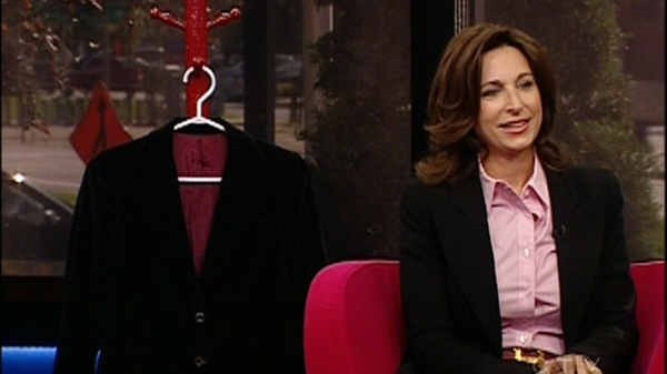 Suzanne Reisler Litwin with the jacket that inspired her book (Sept. 27, 2011)