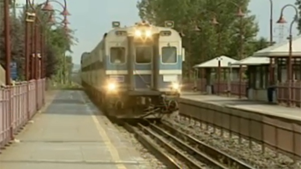 An AMT train pulls into a station. The agency is proposing that four station be moved from Zone 1 to Zone 2 (Sept. 27, 2011)