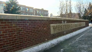 Grade 10 students at Western Canada High School will move to online learning until April 27. (File photo)