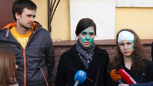 Pussy Riot members in Nizhny Novgorod, Russia