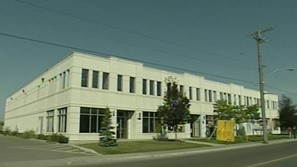 A Hydro Quebec subcontractor rented space in this warehouse, which is owned by a numbered company administered by members of the Rizutto family (Sept. 27, 2011)