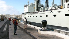 HMCS Protecteur arrives at Pearl Harbor