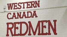 Western Canada High School , redmen, Redmen logo,