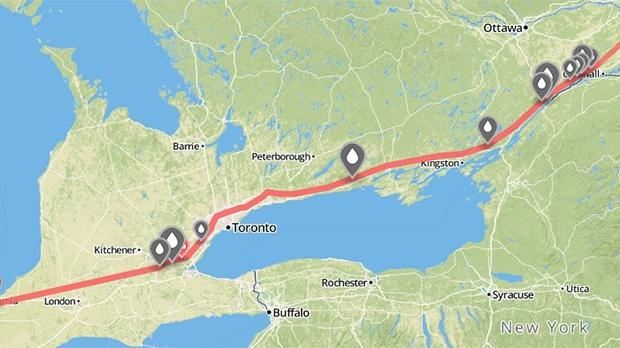 Line 9 map