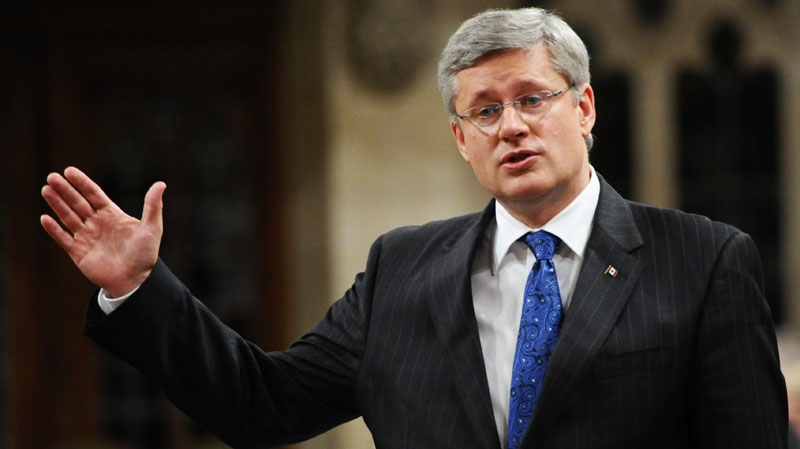 Prime Minister Stephen Harper answers a question during question period in the House of Commons on Parliament Hill in Ottawa on Tuesday, September 27, 2011. (Sean Kilpatrick / THE CANADIAN PRESS)