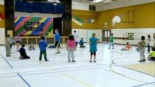 Kids enjoying physical exercise during recess