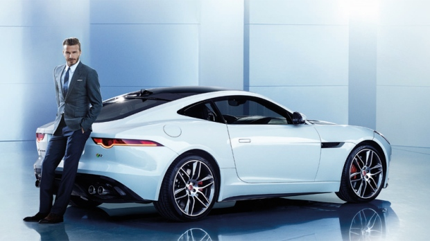 David Beckham as Jaguar ambassador