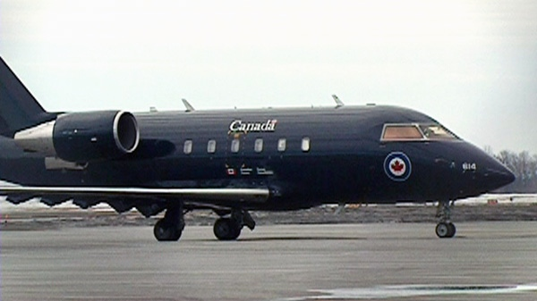 A Challenger jet is shown on a tarmac in this undated photo.