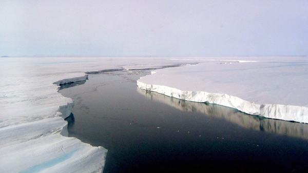 The Larsen Ice Shelf on the Antarctic Peninsula has experienced an unprecedented series of collapses. (Ted Scambos / NSIDC)