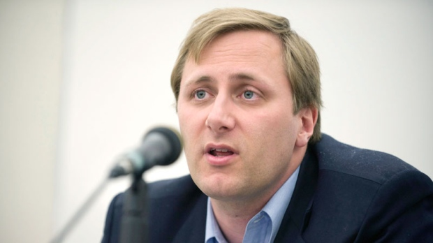 Brad Trost, Conservative party candidate for Saskatoon-Humboldt, speaks at a candidate's forum at the University of Saskatchewan in Saskatoon, on April 21, 2011. (Liam Richards / THE CANADIAN PRESS)