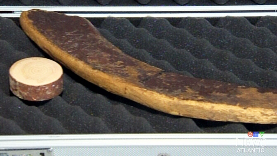 The world's oldest hockey stick belongs to Mark Presley of Berwick, N.S.