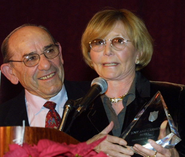 Yogi Berra and Carmen Berra