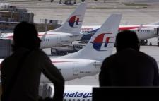 Malaysia Airlines' planes at Kuala Lumpur airport