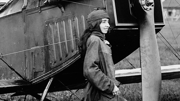 Katherine Stinson was one of the first female pilots. Photo courtesy of Alberta Aviation Museum