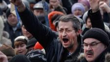 Pro Russia rally in eastern Ukraine