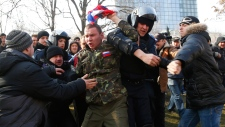 Vladimir Putin defends separatist drive in Crimea
