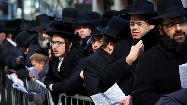 Orthodox Jews gather in New York