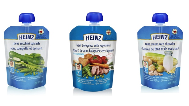"The Canadian Food Inspection Agency said Sunday that Heinz Canada is recalling six baby food products due to a packaging defect that may allow for the entry of ""spoilage microorganisms."" (CFIA)"