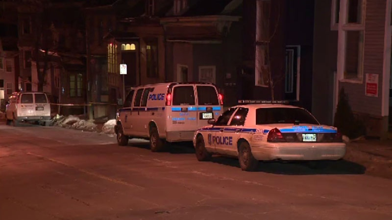 Halifax Regional Police respond to a home on South Street on March 9, 2014. (CTV Atlantic)