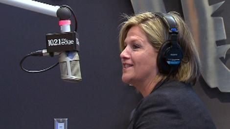 Andrea Horwath speaks on 102.1 The Edge