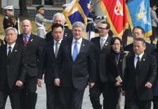 Stephen Harper in South Korea