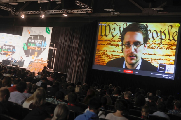 Edward Snowden speaks to SXSW Interactive Festival