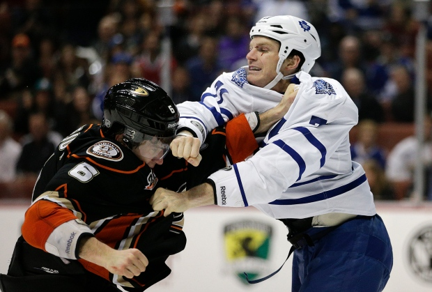 David Clarkson fights with Ben Lovejoy