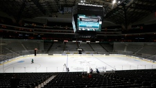 Peverly collapse postpones Stars-Blue Jackets game