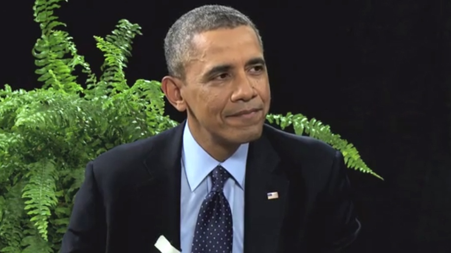 U.S. President Barack Obama appears with Zach Galifianakis on Funny or Die.