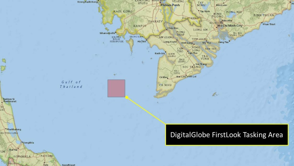 DigitalGlobe is looking for volunteers to help search for any sign of the missing Malaysia Airlines jet by scouring satellite images. (Source: DigitalGlobe)