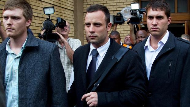 Oscar Pistorius leaves high court in Pretoria