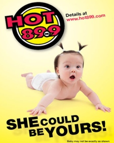 radio station offers free baby in contest